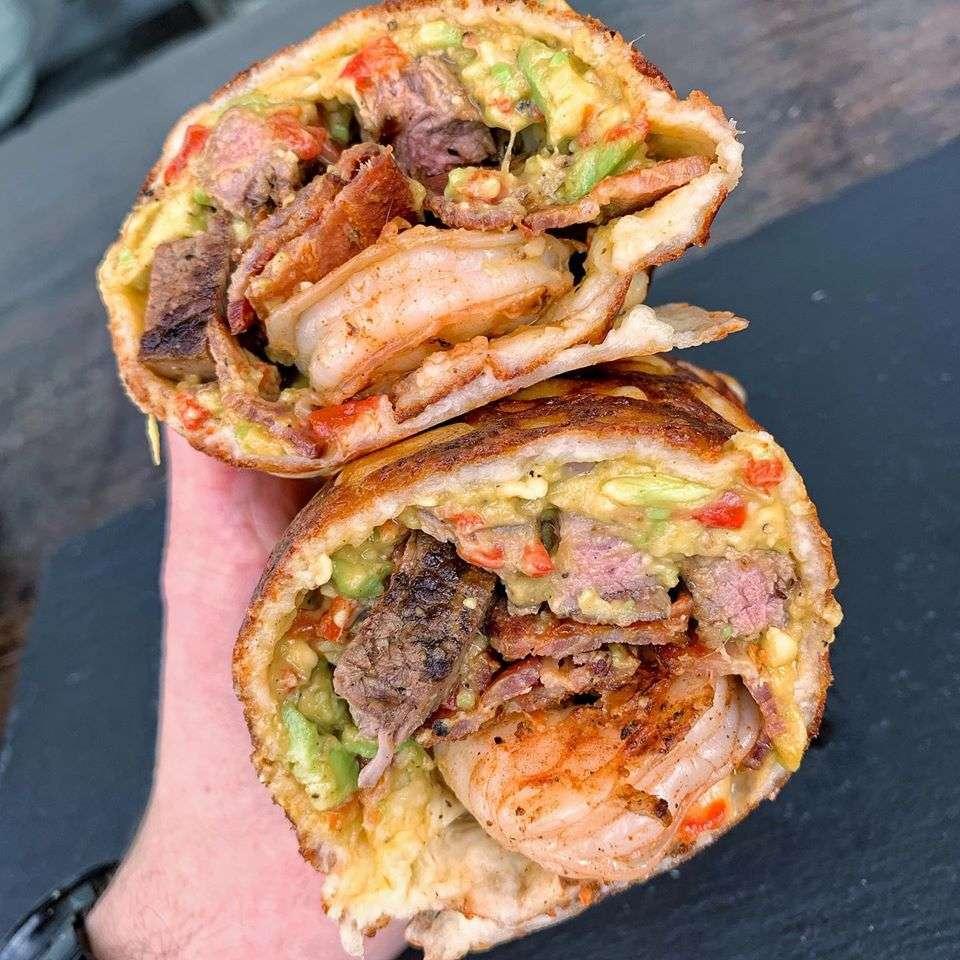 Keto surf and turf Burrito
