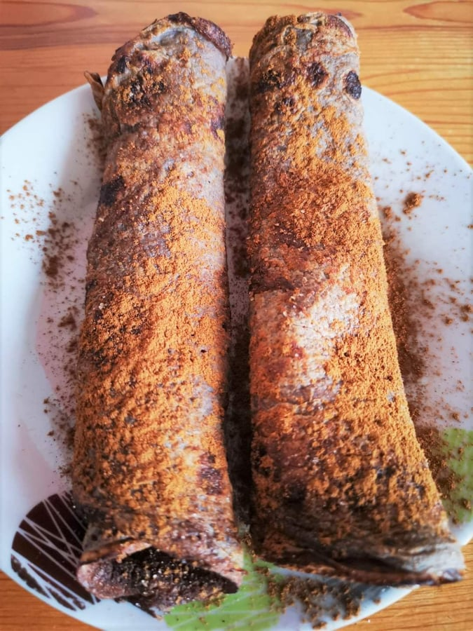 chocolate filled crepes