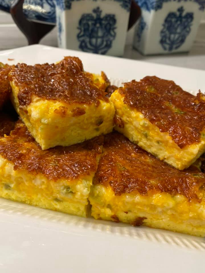 Low-carb Jalapeno Cheese Squares