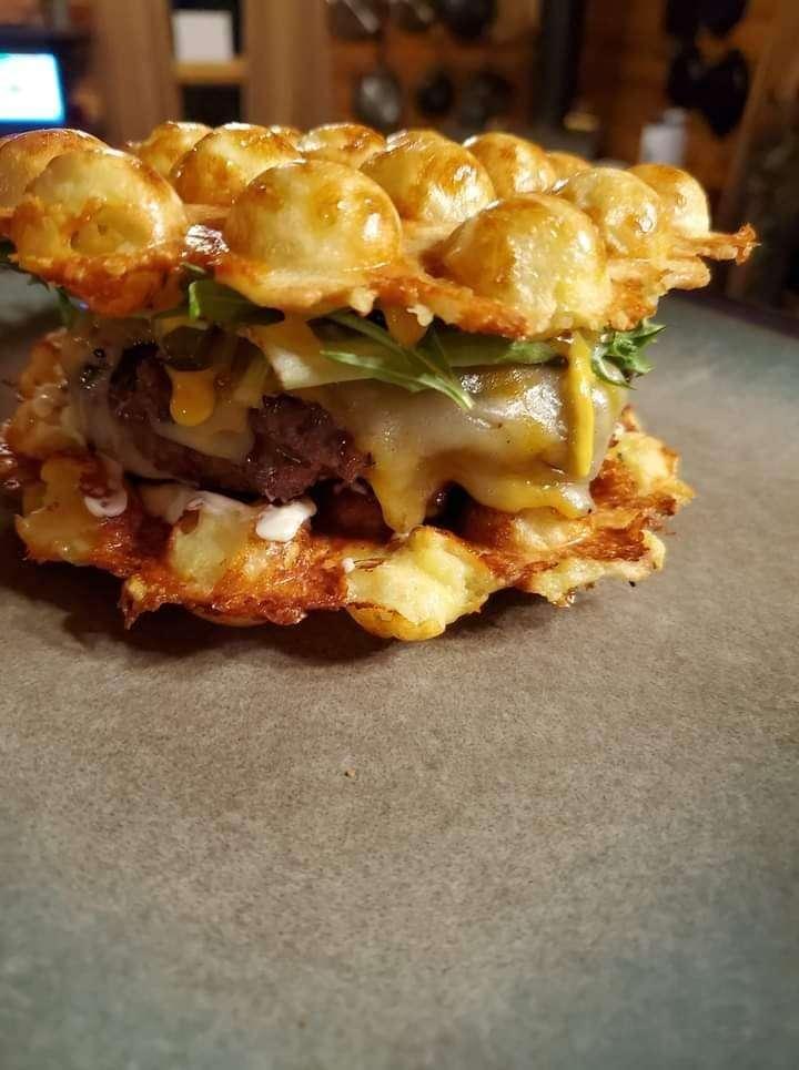 Chaffle burger