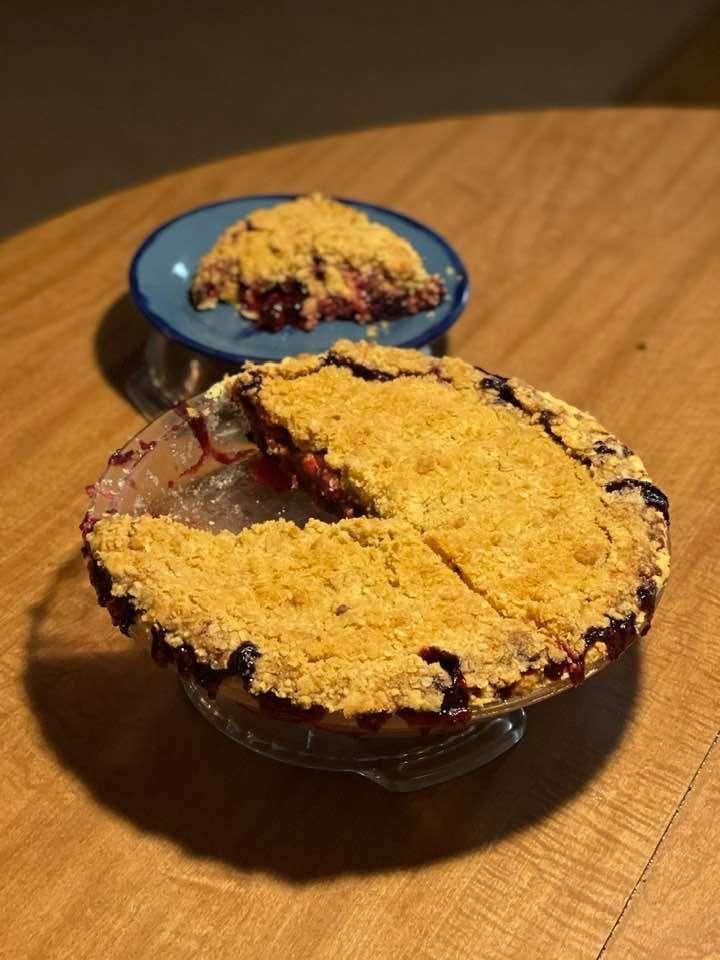low carb blueberry cobbler