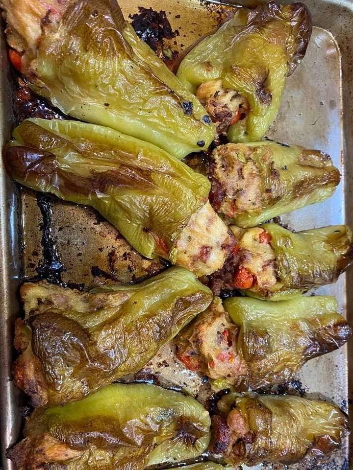 Cuban green peppers